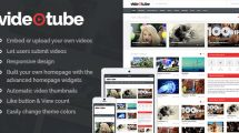 VideoTube v3.0.8 - A Responsive Video WordPress Theme Free Download