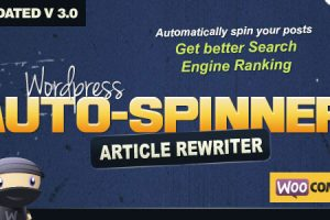 Wordpress Auto Spinner v3.4.0 - Articles Rewriter Download Free